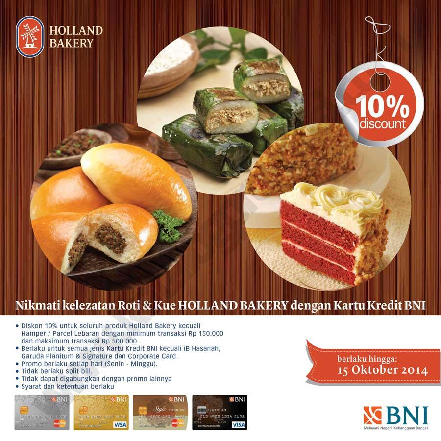 Promo Kartu Kredit BNI - Holand Bakery - CekAja.com