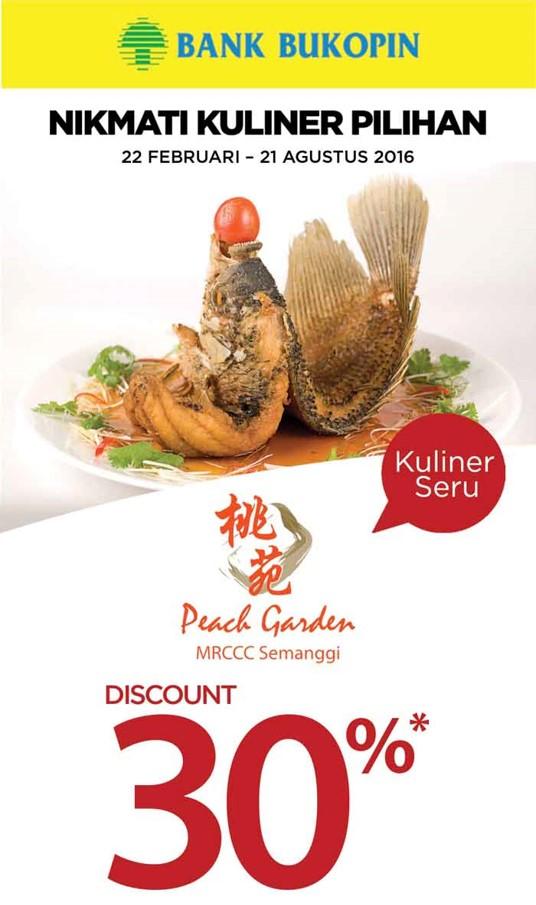 promo Peach Garden kartu kredit Bukopin-CekAja.com