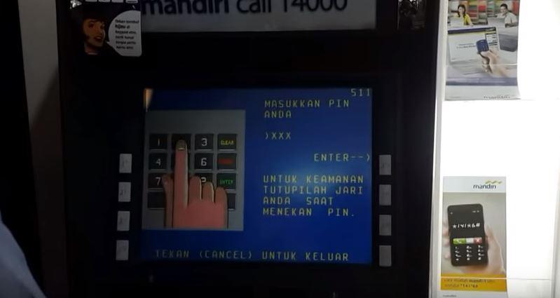 mesin atm mandiri banking