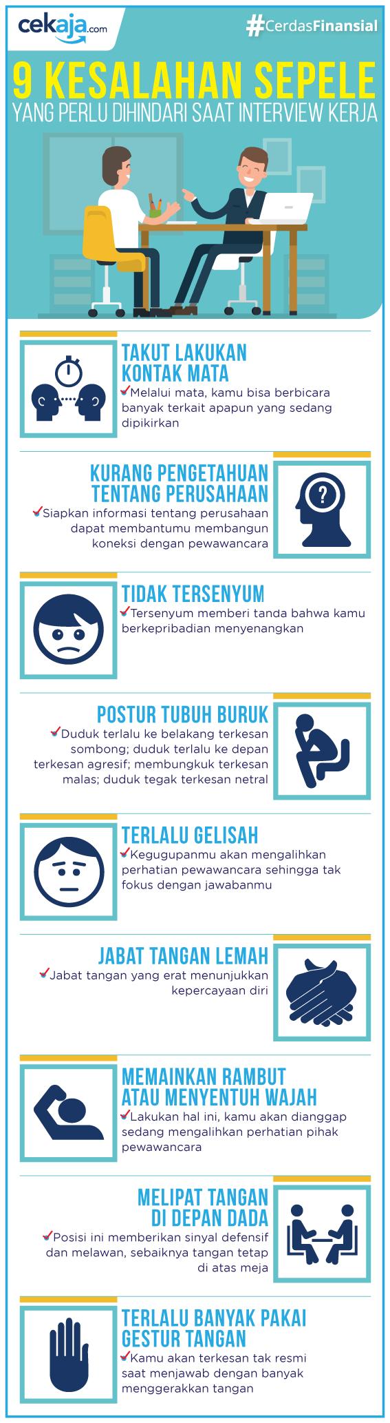infografis-tips interview kerja - CekAja.com