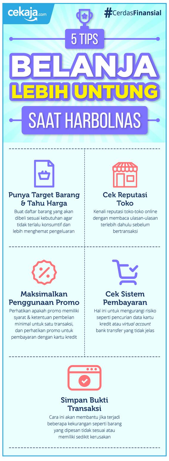 infografis-belanja lebih untung saat harbolnas - CekAja.com