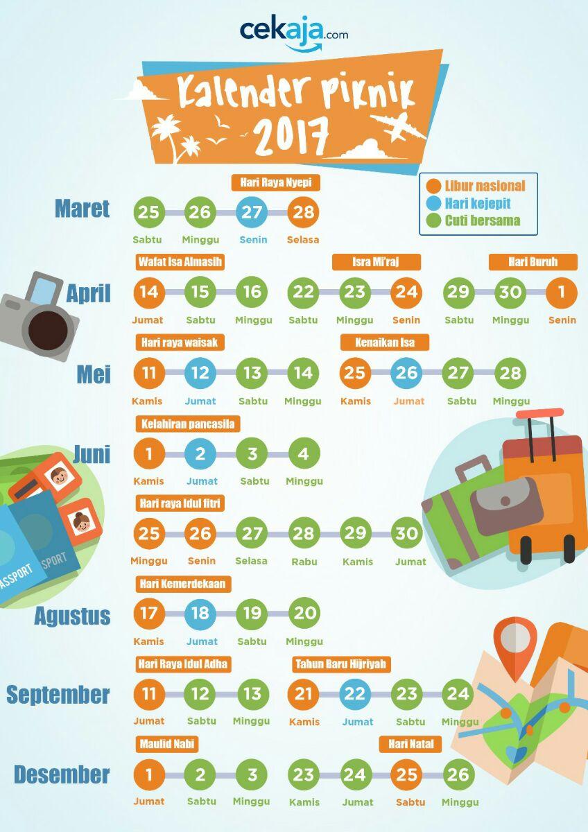Kalender 2017 - libur nasional dan cuti bersama
