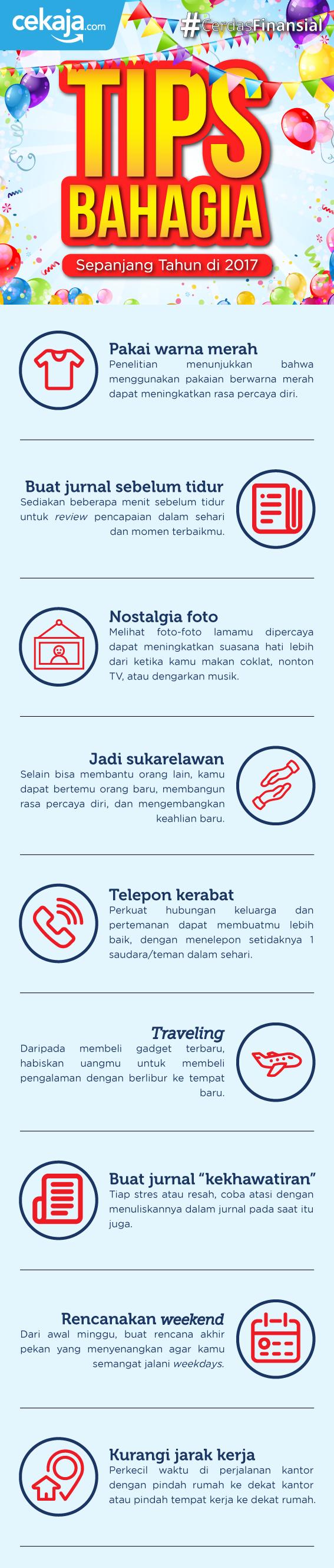 infografis_tips bahagia - CekAja.com